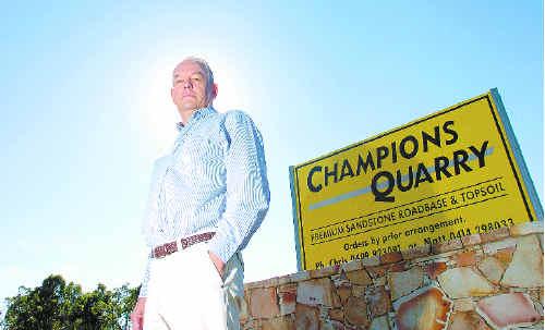 Owner Jeff Champion outside Champion's quarry in Tucki Tucki.
