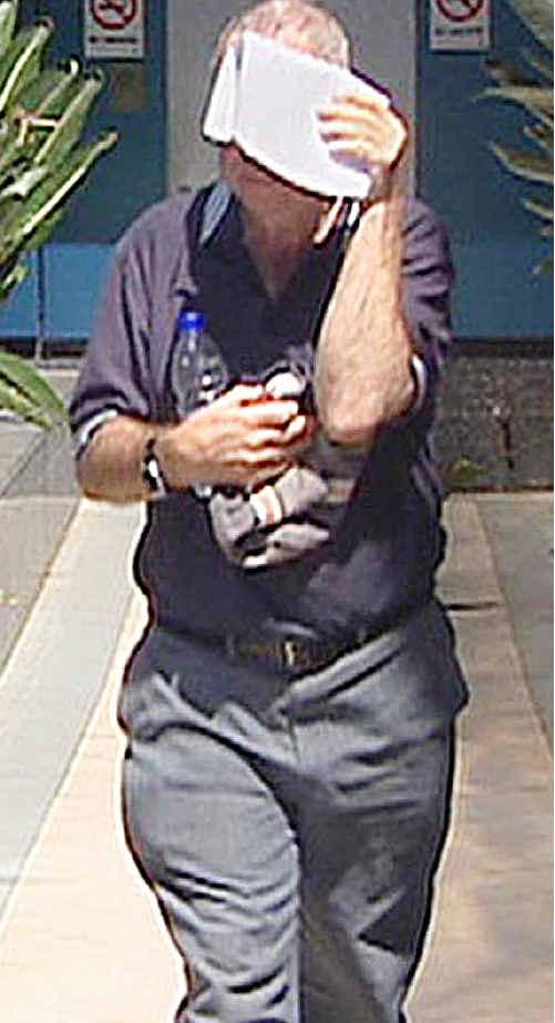 Former teacher Gerard Byrnes leaves court at an earlier appearance.