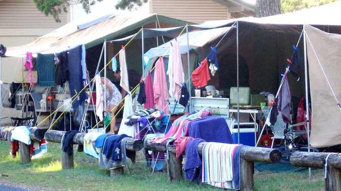 Camping at Brunswick Heads