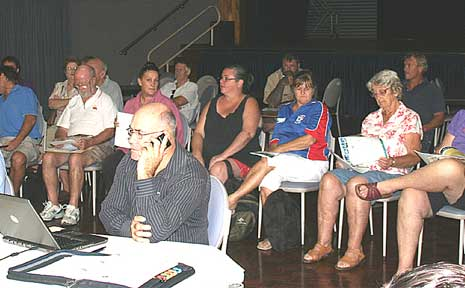 It was a full house at yesterday's council meeting in Proserpine as residents came to voice their concerns about the recent purchase of a block of land for a future sports park.