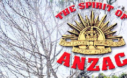 Educational: The cover of the Anzac booklet being distributed.