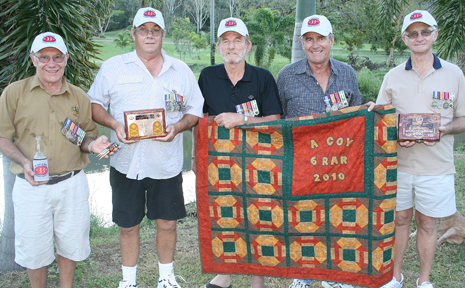 This year's Anzac Day in the Whitsundays will mark as a renunion for RAR A Company Six Battalian Vietnam vets Ian Lade (Sugarloaf), Ernie Dare, Mal Nicholls, Chris Weigand (Sugarloaf) and Ray Corry.