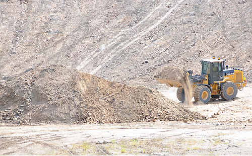 The upkeep and maintenance of roads is a skyrocketing expense for council, and the gravel, mostly sourced out of the saleyard pit (pictured) has become a costly component of expenditure.