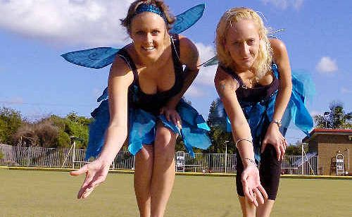 Ovarian cancer sufferer Mel Ensbey, left, and friend Katie Martin, from Alstonville, will host a charity bowls day on Sunday at the Alstonville bowling club.