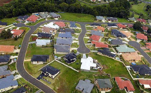CROWDED HOUSE: Aerial view of development on the Northern Rivers.