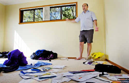 Troubled start: Newcomers, radiation therapists Dean Wharton (pictured) and Heather Rees, lost nearly all their possessions when their newly rented home at Goonellabah was broken into last Wednesday.