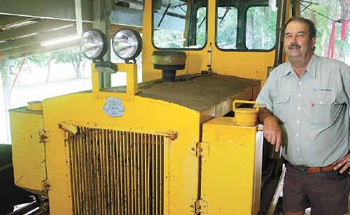 Collector Clive Plater has his own diesel locomotive at home in Eudlo.