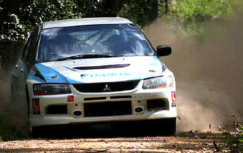Local rally driver Nathan Quinn finished fifth at the Quit Forest Rally.