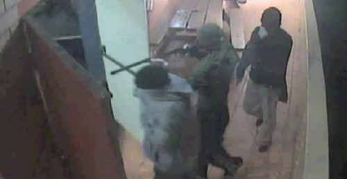 Police investigating an armed hold up at the South Grafton Ex-Servicemen's Club in December yesterday released these images of the robbery.
