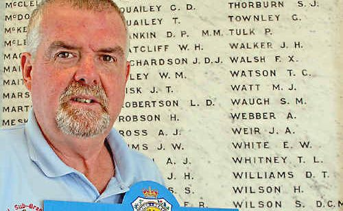 City of Lismore RSL Sub-Branch secretary Wilson McClelland is encouraging people to buy Anzac Day badges.