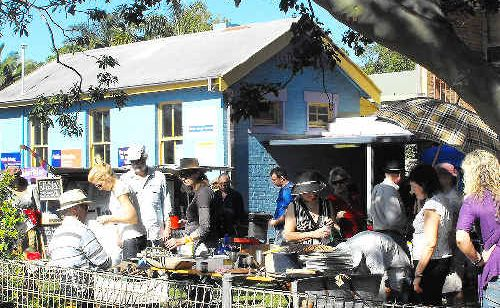 Grab a bargain: A scene from last year's Old and Gold Festival at Brunswick Heads.