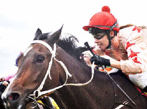 Jockey Belinda Hodder.