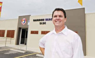 Proud: Rainbow Beach Surf Club manager Brad Robb says it is a real coup to win the Best Club in Wide Bay award.