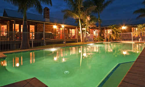The pool of Pauline Hanson's $2.15 million-valued home at Coleyville, near Ipswich.