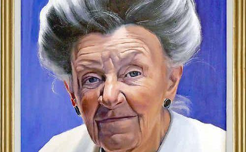 Paul deGrey Bashford's portrait of Rosemary Bashford entitled That Lady with the Hair.