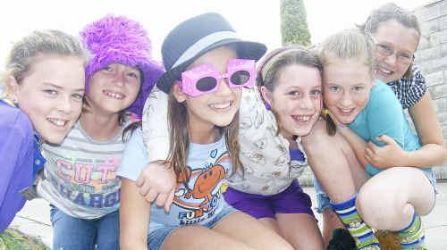 Crazy kids: Friends for life Grace Lloyd, Melissa Walker, Chloe Barber, Les-Leigh Hurley, Emma Frattini and Mackenzie Dwan let loose.
