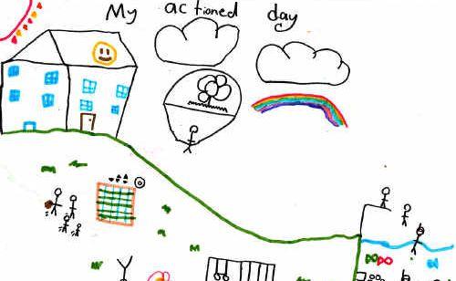 My Actioned Day by Miranda Voaden, aged 9 of Billen Cliffs.