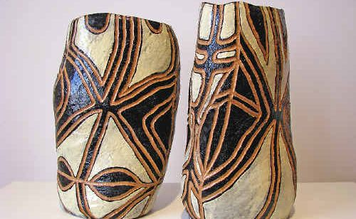 Last year the NPWS Northern Rivers Region Aboriginal Art Award received around 90 entries. First prize went to Penny Evans for this ceramic work, Sisters.