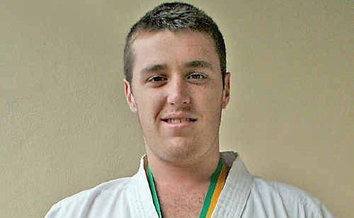 Australian karate champion for the U/21 over 78kg division, Matt Tickle.