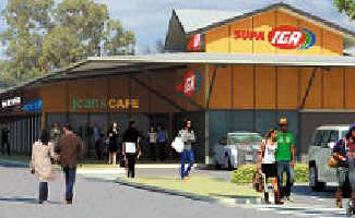 Da approved: An artist's drawing of the new Supa IGA supermarket approved yesterday for Wollongbar.