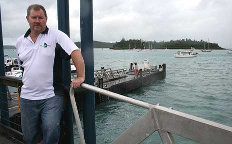 Paul McIlvride fears that Shute Harbour will turn into a ghost town with ferry services moving into Airlie Beach.