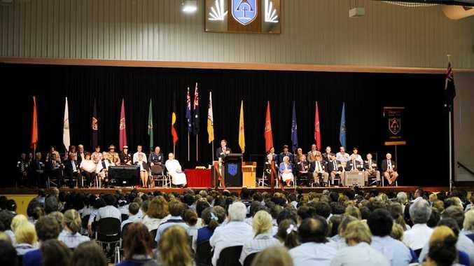 Anzac ceremony at Trinity Catholic College