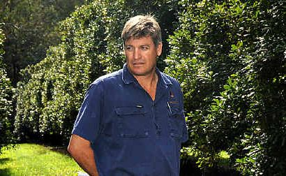 Wolvi Macadamia farmer Troy Ziesemer at his orchard.