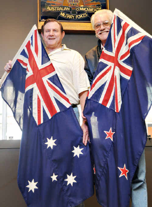 Kevin Hughes and John Newman remember where the first A and the NZ in the word Anzac comes from.