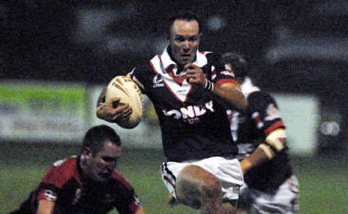 Scott Kerridge on the attack for Warwick.