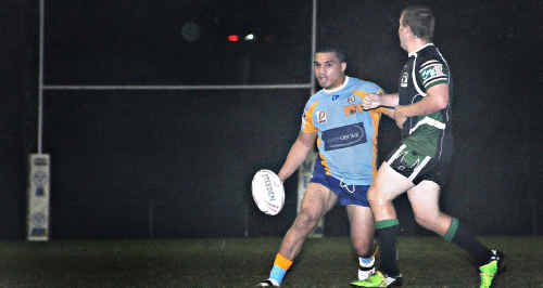The Gympie Devils were a force to be reckoned with at home at the weekend, downing Maroochydore 44-22. Reserve grade got in on the act with a thrashing of its own, getting up 56-8. In action above is Ray Ione, who crossed once for the Devils.