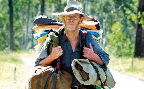Grant 'John' Cadoret loves his nomadic existence, wandering the roads of Australia for the past 30 years.
