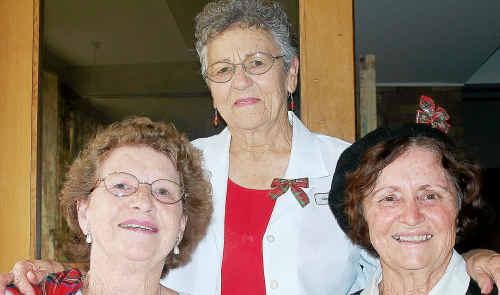 LEFT, Senior Citizens' Scottish celebrations: Ruby Mullins, Mavis Cameron and June Owens.