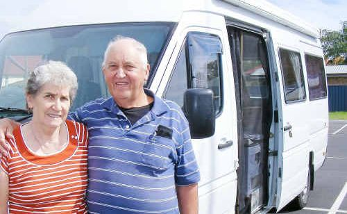 Kevin and Lyn Eaves from Tasmania who are on a 12-month trip around Australia say they spend more money in RV Friendly towns.