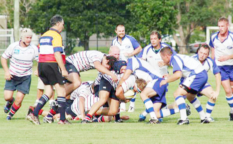 Some of the action from the Byron Bay and Bangalow local derby at the Rec Ground on Saturday.