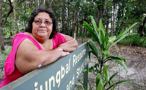 DISGUSTED: Tweed Aboriginal co-op secretary Desrae Rotumah is upset a website is claiming the Tweed Heads Historical Site is an ideal place to meet gay men.