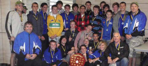 Far North Coast players celebrate their achievement.