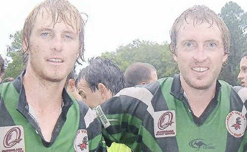 GOOD SHOWING: Troy and Brad Carlson enjoyed the side's first home game last weekend despite posting a loss to Bribie Island. It was the first time a Mary Valley side had played at home in almost 60 years.