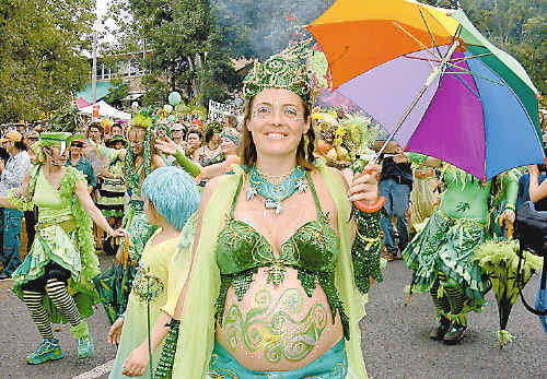 It's MardiGrass time! That means the Ganja Faeries are dancing in Nimbin.