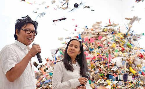 Installation artists Isabel and Alfredo Aquilizan will share their knowledge with visual arts students during ARTspan in May.
