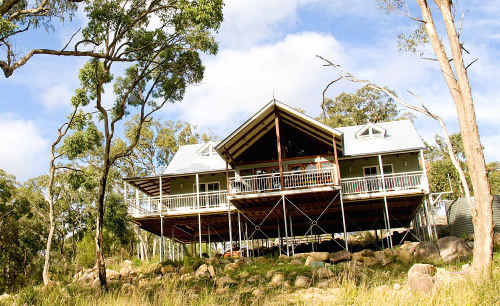 PURE INDULGENCE: You can enjoy the cooler climate of the Granite Belt next to a log fire at your accommodation before heading out to sample the fine fare on offer.