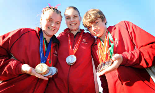 Katie, Molly and Jack Roadley helped to stamp Gympie's authority on the National Special Olympics Titles in Adelaide last week, winning a stunning 17 medals between them in gymnastics. The trio represented Queensland.