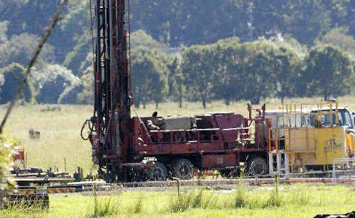 An Arrow Energy CSG drill rig.