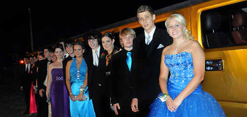 Sixteen St Mary's students arrived at the school formal in the back of a stretch Hummer.
