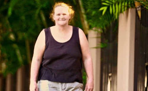 Helen Collins is walking to lose weight as part of the Clarence Valley Biggest Loser program.