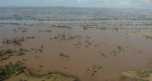 An areal shot of the flood waters produced by the May 2009 floods. Reg Bultitude doesn't believe there will be a repeat this year.