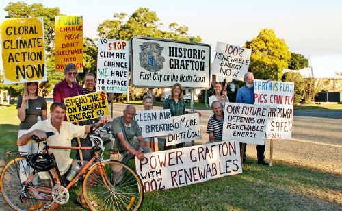 Clarence Valley residents gathered at South Grafton last week as part of a national call for renewable energy.