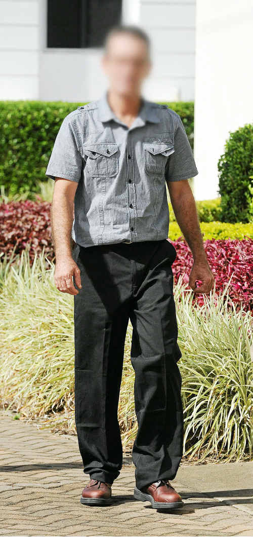 Anthony Bruce Beer outside the Bundaberg Courthouse yesterday. It is alleged he was involved in the death of a Bundaberg taxi driver.