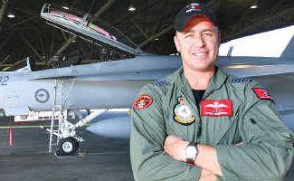 Group Captain Steve Roberton at RAAF Base Amberley.