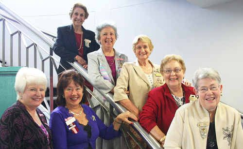 VIEW zone councillor Joy Gregor and VIEW national councillor Jan Blanch (front left) with members who have been placed on the Honour Roll (from top) Bette Marsh, Gloria Turnbull, Norma Parr, Tess Vigna and Betty Booth.