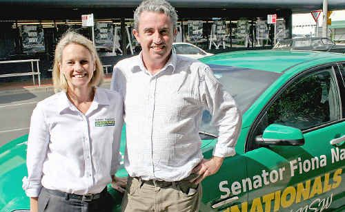 Senator Fiona Nash with The Nationals Page candidate Kevin Hogan